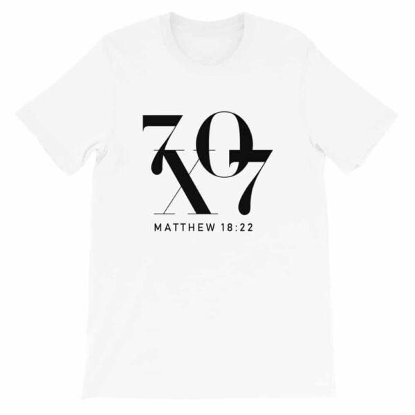 70 X 7 Forgiveness White Christian Graphic T-Shirt