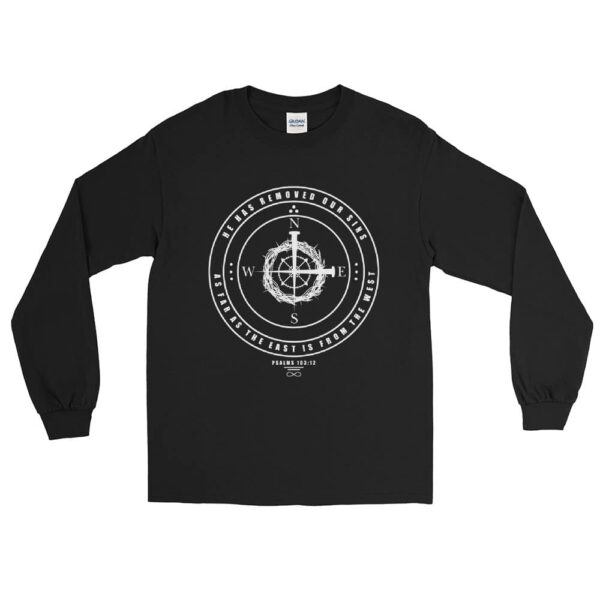 East To West Black Christian Long Sleeve T-Shirt