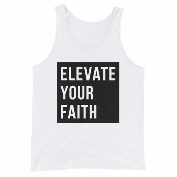 Elevate Your Faith White Christian Tank Top