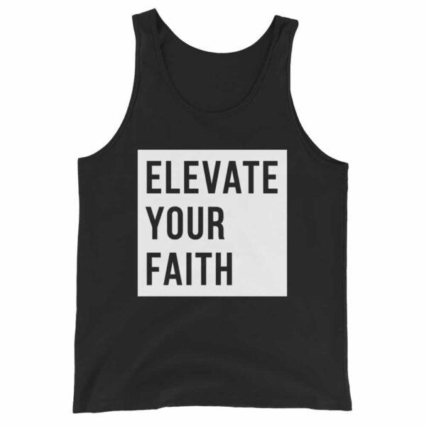 Elevate Your Faith Black Christian Tank Top