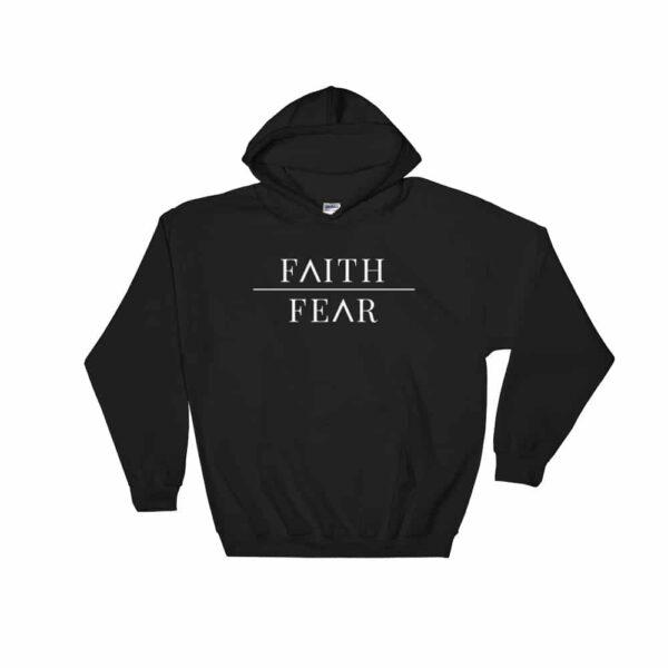 Faith Over Fear Black Christian Hoodie