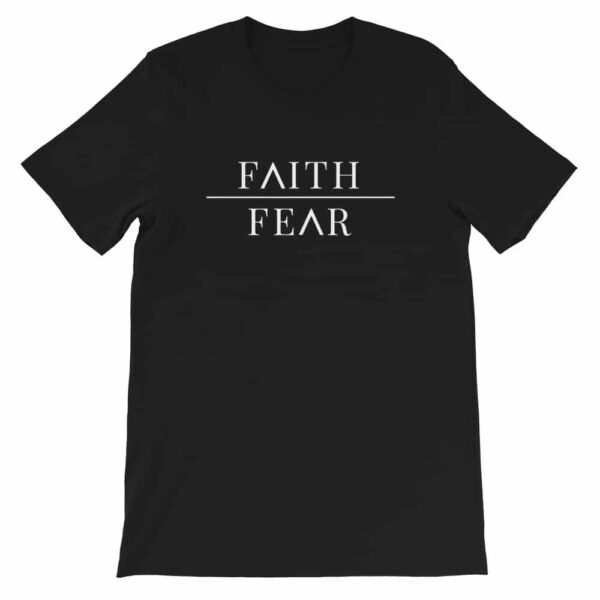 Faith Over Fear Black Christian Graphic T-Shirt