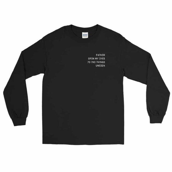 Father Open My Eyes Black Christian Long Sleeve T-Shirt