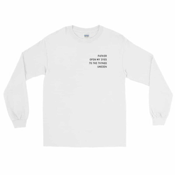 Father Open My Eyes White Christian Long Sleeve T-Shirt