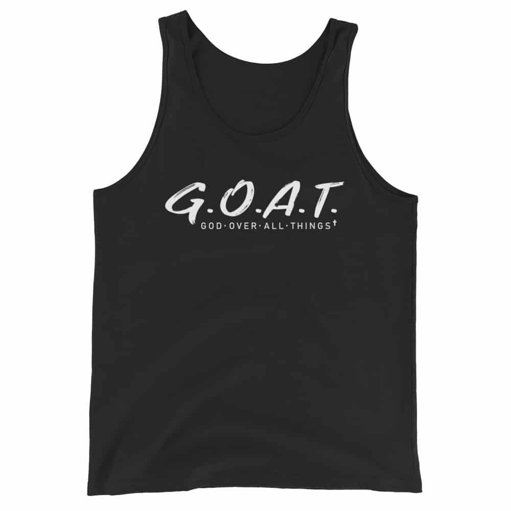 God Over All Things Black Christian Tank Top