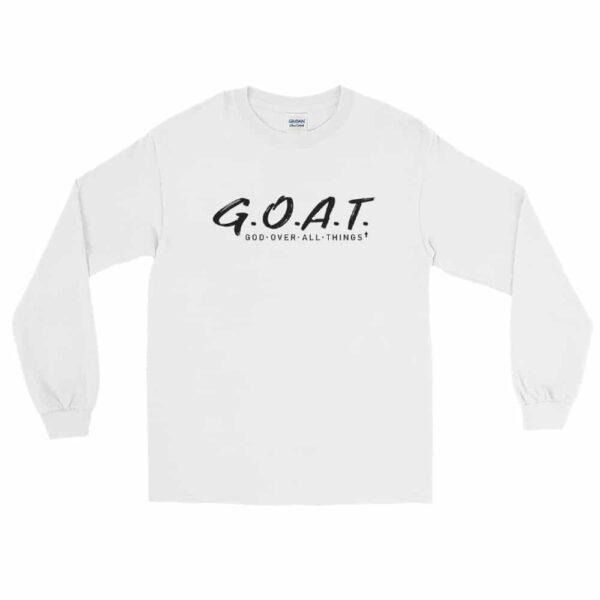 God Over All Things White Christian Long Sleeve T-Shirt