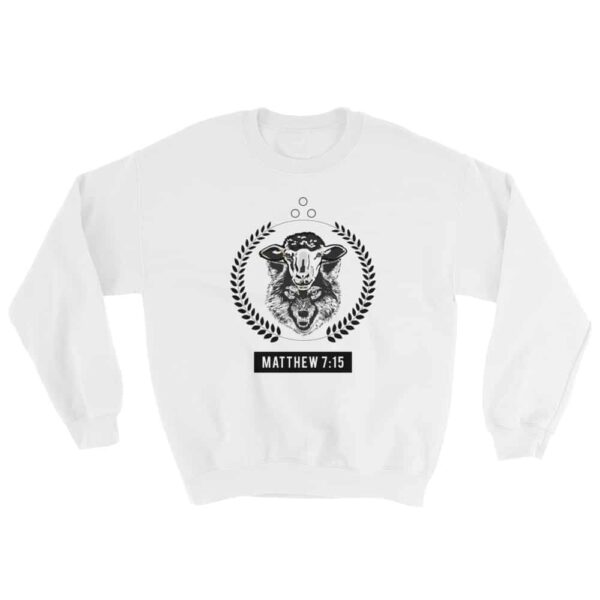 Infiltration of the Flock White Christian Crewneck