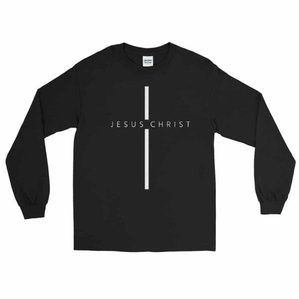Jesus Christ Cross Black Christian Long Sleeve T-Shirt