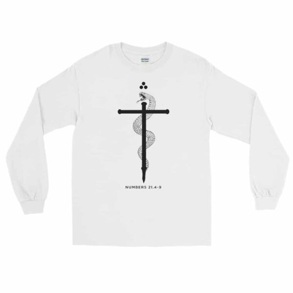Serpent of Faith White Christian Long Sleeve T-Shirt