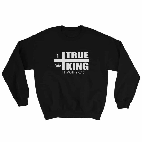 1 True King Black Christian Crewneck