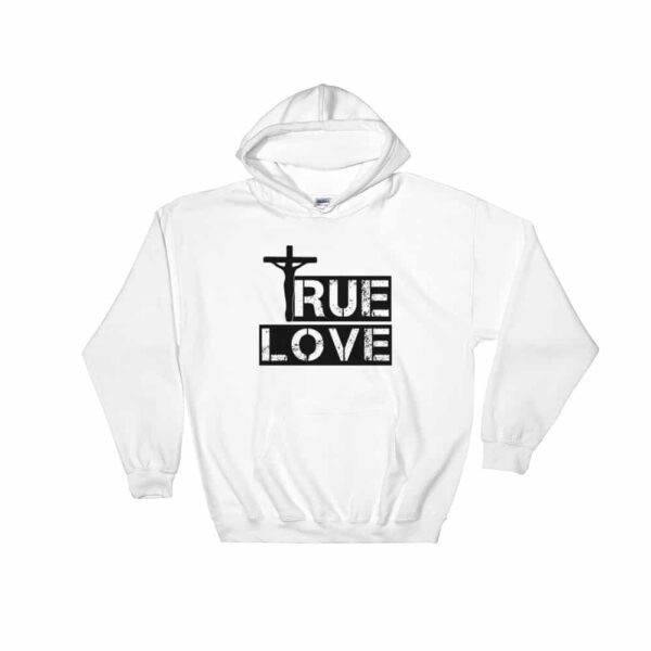 True Love White Christian Hoodie