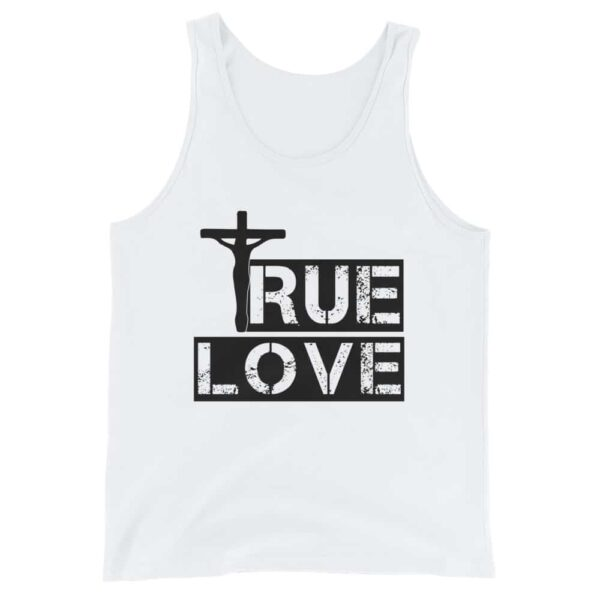 True Love White Christian Tank Top