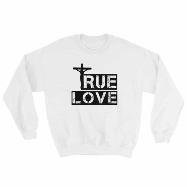 True Love White Crew Neck Sweatshirt