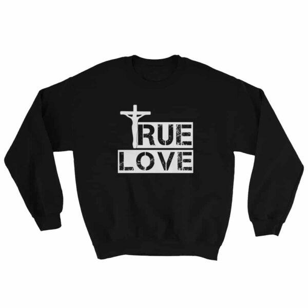 True Love Black Christian Crewneck