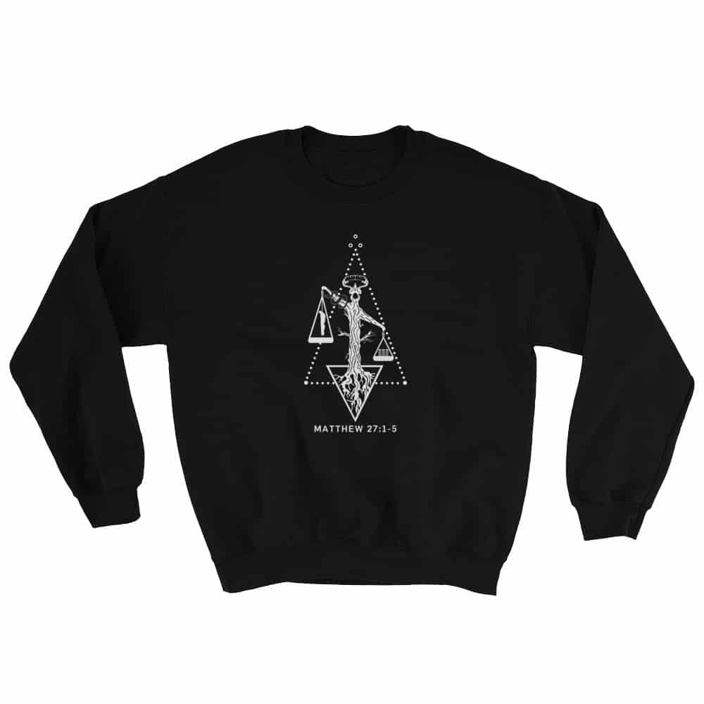 Weight of Sin Black Christian Crewneck Sweatshirt