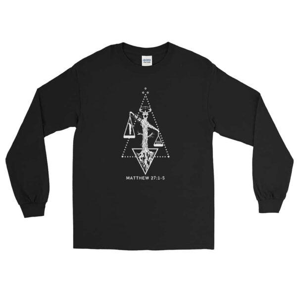 Weight of Sin Black Christian Long Sleeve T-Shirt