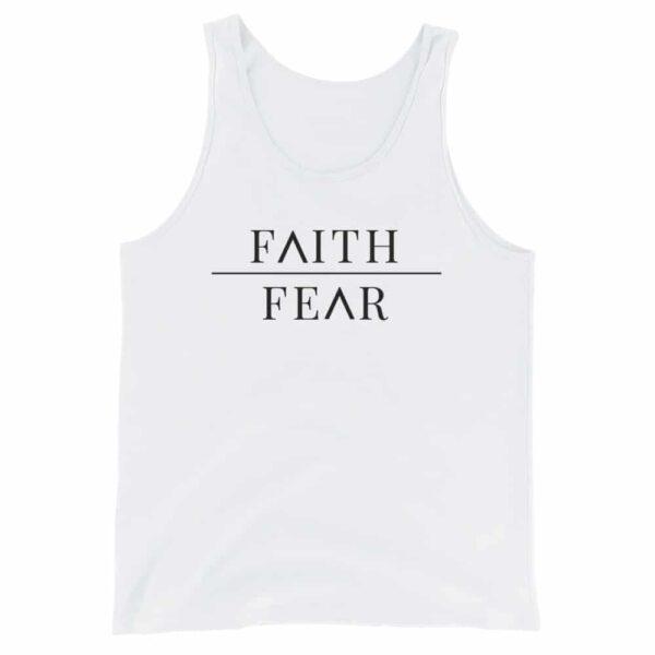 Faith Over Fear White Christian Tank Top