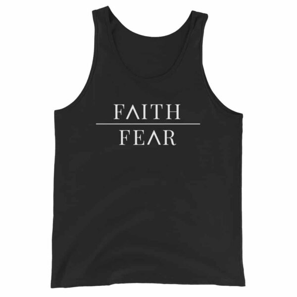 Faith Over Fear Black Christian Tank Top