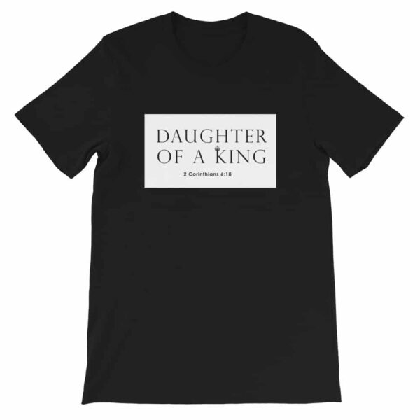 Daughters of A King Black Christian T-Shirt