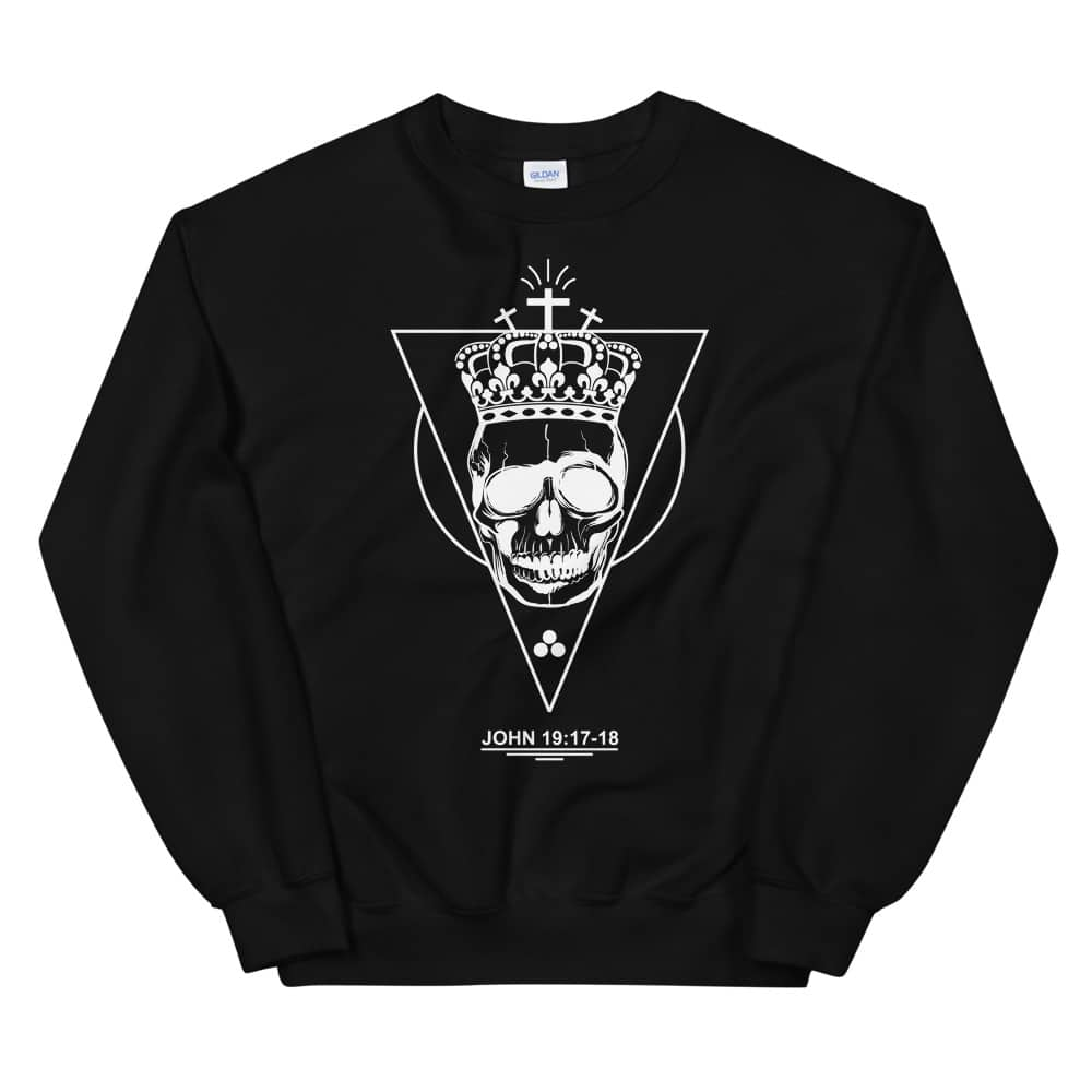 Golgotha Christian Black Crewneck Sweatshirt