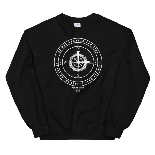East to West Black Crewneck Sweatshirt
