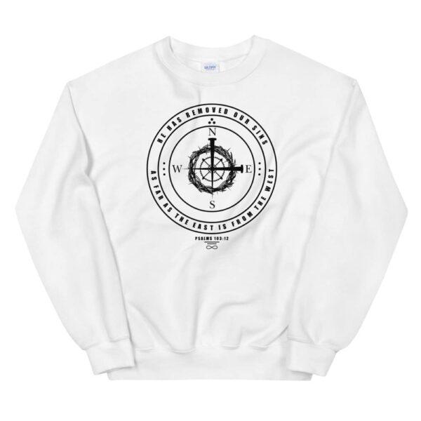 East to West White Christian Crewneck Sweatshirt